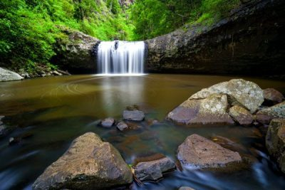 Lip falls part of the waterfalls in the northern rivers hinterland australia