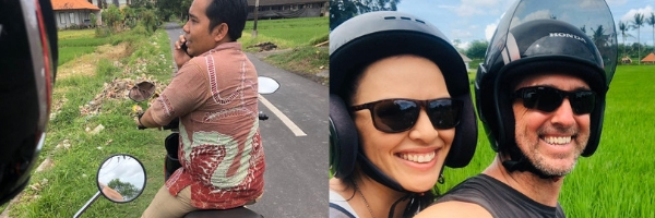 Family Travel Bali Scooters